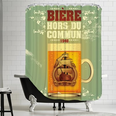 Polyester Bieres Hors Du Commun Shower Curtain