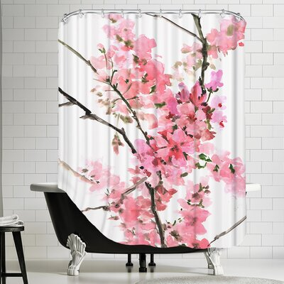 Polyester Flowers 2 Shower Curtain