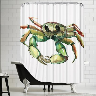 Polyester Crab Shower Curtain