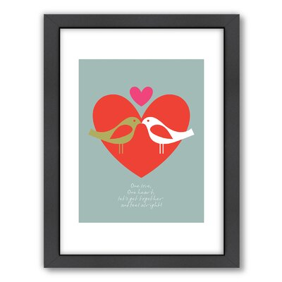 Visual Philosophy Birds One Love Framed Graphic Art A80P083F1824