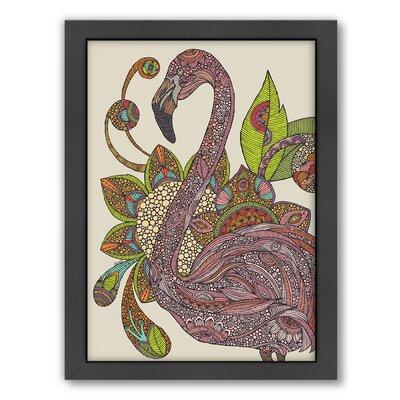 "Royal Flamingo by Valentina Ramos Graphic Art Frame Color: No Frame, Size: 24"" H x 30"" W x 1.5"" D A117P058C2430"