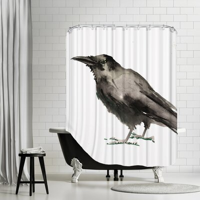 Polyester Crow 3 Shower Curtain