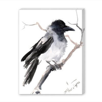 Hooded Crow by Suren Nersisyan Painting Print on Wrapped Canvas Size: 24