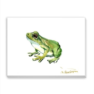 Common Frog by Suren Nersisyan Painting Print on Gallery Wrapped Canvas Size: 24