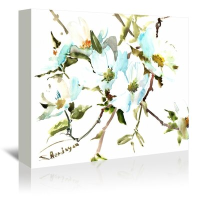 Dogwood Flowers by Suren Nersisyan Painting Print on Gallery Wrapped Canvas Size: 24