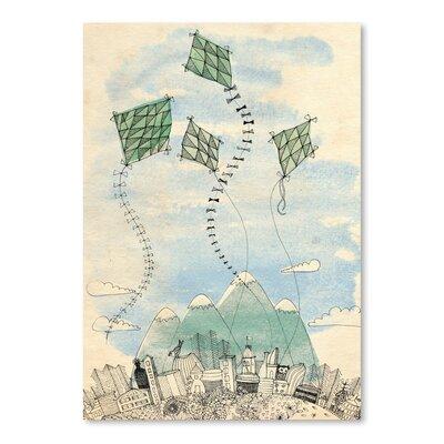 Paula Mills 4 Happy Kites Painting Print