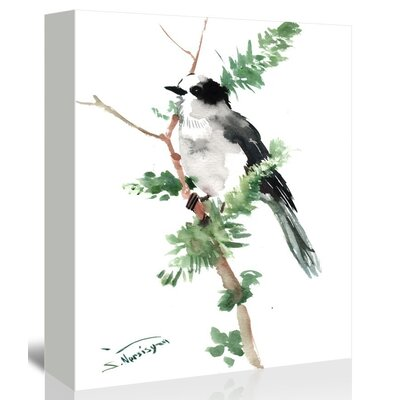 Gray Jay by Suren Nersisyan Painting Print on Gallery Wrapped Canvas Size: 48