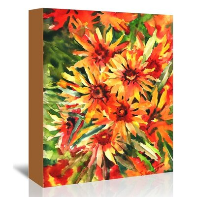 Blanket Flowers 1 by Suren Nersisyan Painting Print on Wrapped Canvas Size: 30