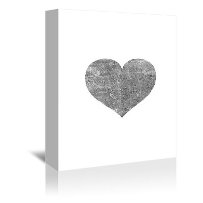 "Love Heart Swinging Graphic Art on Wrapped Canvas Size: 48"" H x 32"" W x 1.75"" D A89P411C3248"