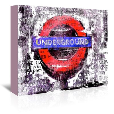 London Under ground Textual Art on Gallery Wrapped Canvas Size: 32