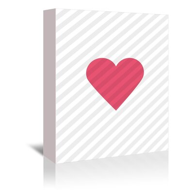 """Pink Love Heart Graphic Art on Gallery Wrapped Canvas Size: 48"""" H x 32"""" W x 1.75"""" D A89P436C3248"""
