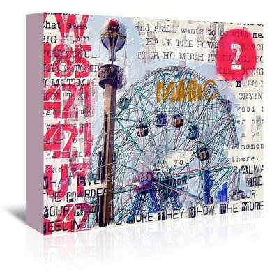 Wonder Wheel Magic Graphic Art on Gallery Wrapped Canvas Size: 24
