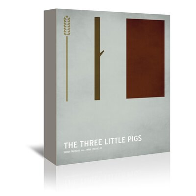 """Christian Jackson Three Little Pigs Graphic Art on Wrapped Canvas Size: 48"""" H x 32"""" W x 1.75"""" D A107P029C3248"""