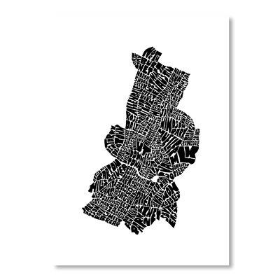 Mapart Austin Textual Art Size: 27