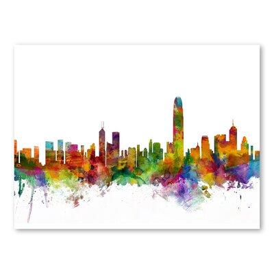 Hong Kong Skyline Wall Mural Size: 24