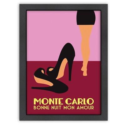 Alan Walsh Monte Carlo Framed Vintage Advertisement Frame Color: Black