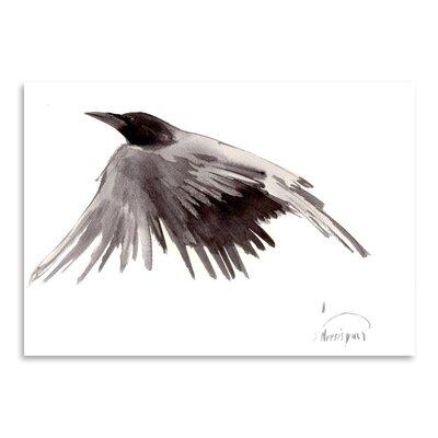 Flying Raven by Suren Nersisyan Painting Print