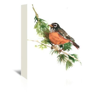 American Robin by Suren Nersisyan Painting Print on Wrapped Canvas Size: 24