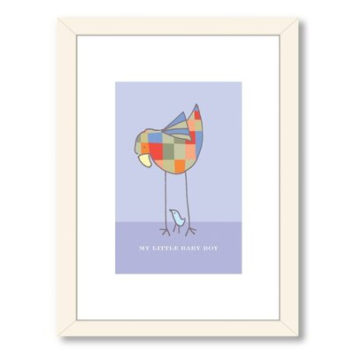 Visual Philosophy My Little Baby Boy Framed Graphic Art Frame Color: White
