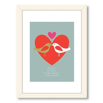 Visual Philosophy Birds One Love Framed Graphic Art A80P083WF1824