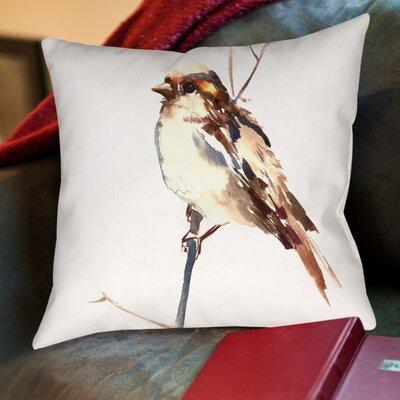 Sparrow 4 Cotton Throw Pillow Size: 16