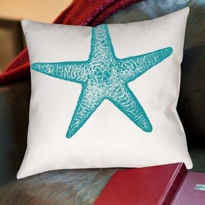 Starfish Poly Poplin Throw Pillow