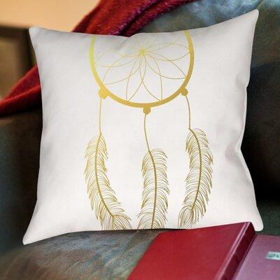 Dreamcatcher Foil Cotton Throw Pillow Size: 18