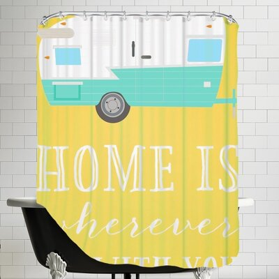 Home Trailer Shower Curtain