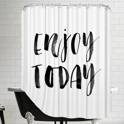 Enjoy Today Watercolor Shower Curtain