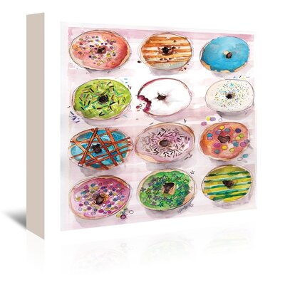 """Donuts by Claudia Liebenberg Graphic Art on Wrapped Canvas Size: 32"""" H x 48"""" W x 1.5"""" D A147P040C3248"""