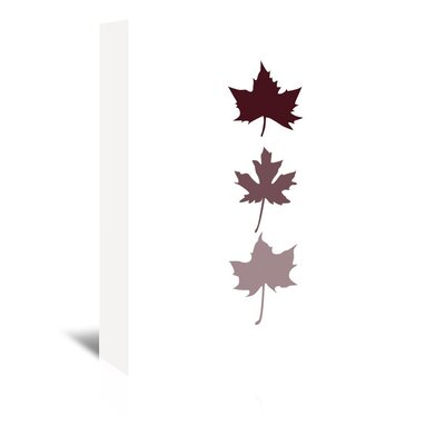 Burgunday Leaves by Jetty Printables Graphic Art on Wrapped Canvas Size: 30