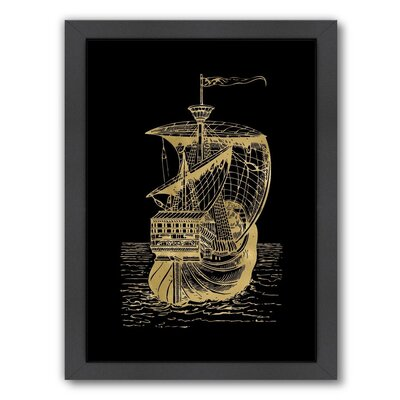 Ship-1 by Amy Brinkman Framed Graphic Art Size: 11