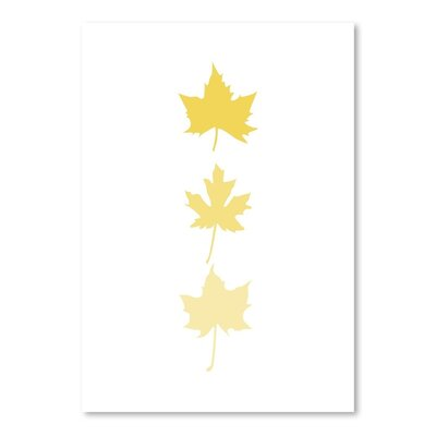 Yellow Leaves Poster Gallery by Jetty Printables Graphic Art