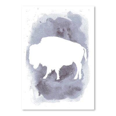 Watercolor Gray Buffalo Poster Gallery by Jetty Printables Painting Print