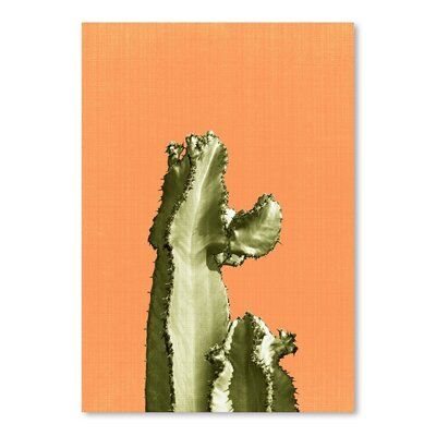 Cactus on Orange Poster Gallery by LILA + LOLA Graphic Art