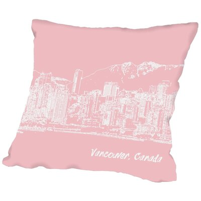 Americanflat Skyline Vancouver Throw Pillow - Size: 16