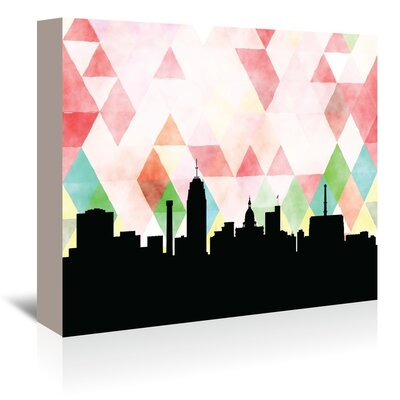 PaperFinch Designs Lansing Triangle by Amy Braswell Graphic Art on Wrapped Canvas Size: 24