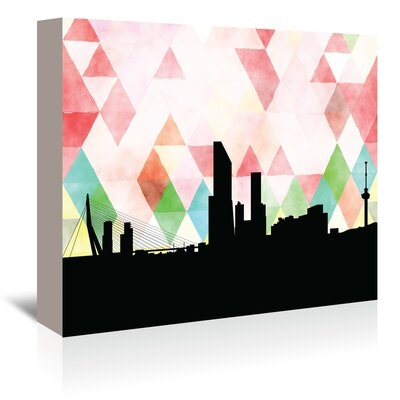 PaperFinch Designs Rotterdam Triangle by Amy Braswell Graphic Art on Wrapped Canvas Size: 24