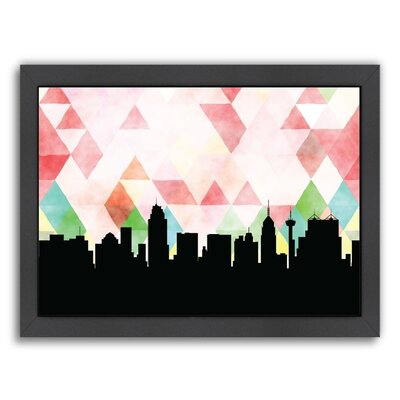 PaperFinch Designs San Antonio Triangle by Amy Braswell Framed Graphic Art Size: 11