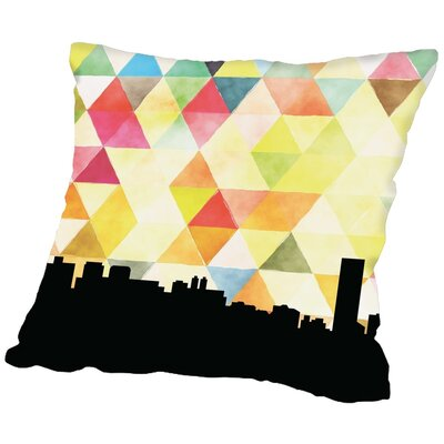 Triangle Paper Finch Taipei Throw Pillow Size: 20