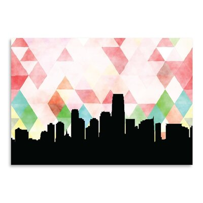 PaperFinch Designs Jersey City Triangle by Amy Braswell Graphic Art Size: 11