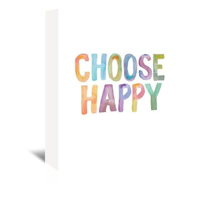 Choose Happy Textual Art on Wrapped Canvas