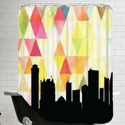 Triangle Paper Finch Winnipeg Shower Curtain