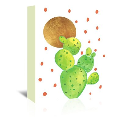 Cactus 1 by Ikonolexi Graphic Art on Wrapped Canvas Size: 20