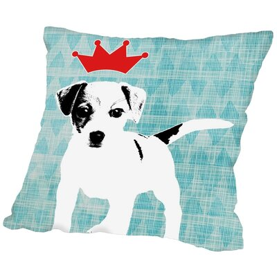 Americanflat Dog 2 Throw Pillow - Size: 18