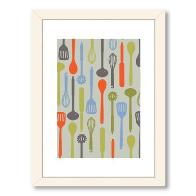 Visual Philosophy Kitchen Utensils Framed Graphic Art A80P137WF1824