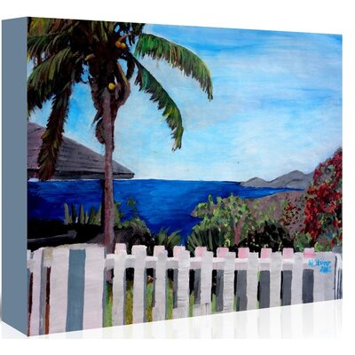 'English Harbour Antigua' by M Bleichner Original Painting on Wrapped Canvas Size: 32