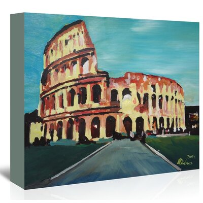 Colloseum' by M Bleichner Original Painting on Wrapped Canvas Size: 32