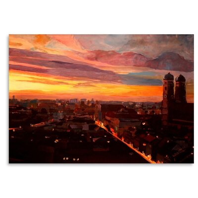 Munich Night 3' by M Bleichner Original Painting Size: 11