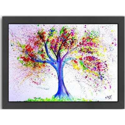 'Tree of Life' by M Bleichner Framed Original Painting Size: 11